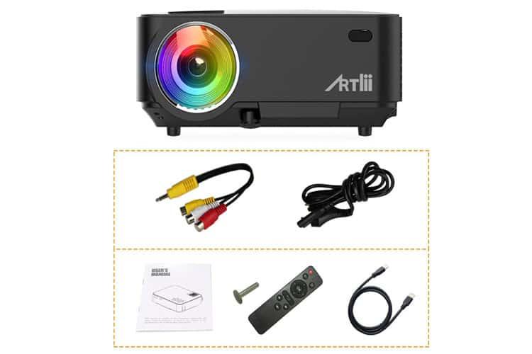 ARTLII Vidéoprojecteur Portable LED test