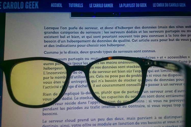 lunette lunette anti lumière bleue pas cher
