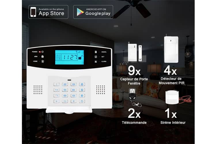 eray m2b gsm alarme maison test complet et avis de la r daction. Black Bedroom Furniture Sets. Home Design Ideas