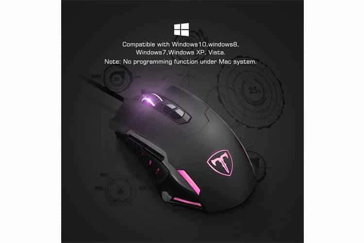 VicTsing Souris gamer programmable test