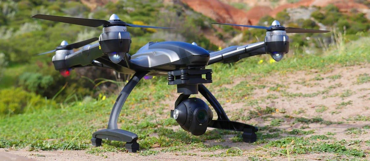 test drone avec caméra
