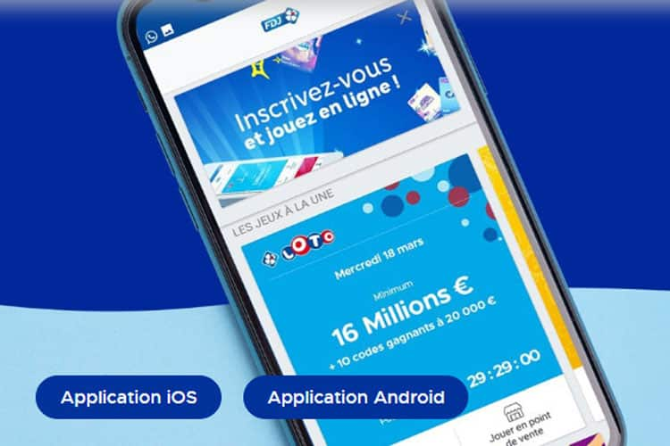 FDJ mobile : comment jouer depuis l'application mobile avis