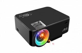 ARTLII Vidéoprojecteur Portable LED : un home cinéma HD à petit prix